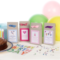 Cookie and brownie mix party favours
