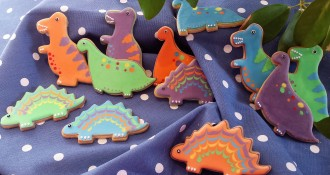 Handmade Dinosaur biscuits by Sarah B