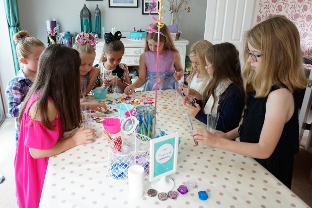 Pamper party crafting