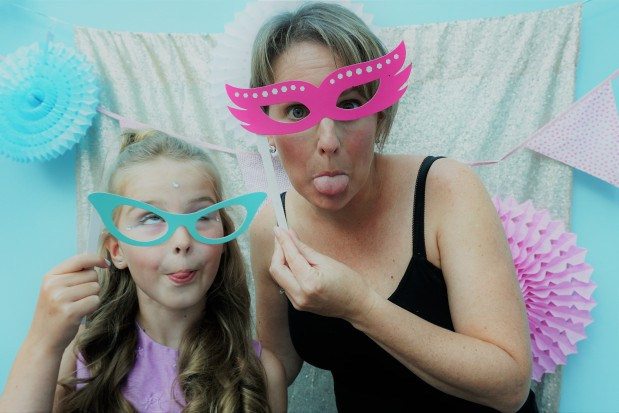 Spa party photo booth