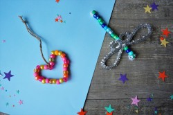 Beaded hearts and dragonflies